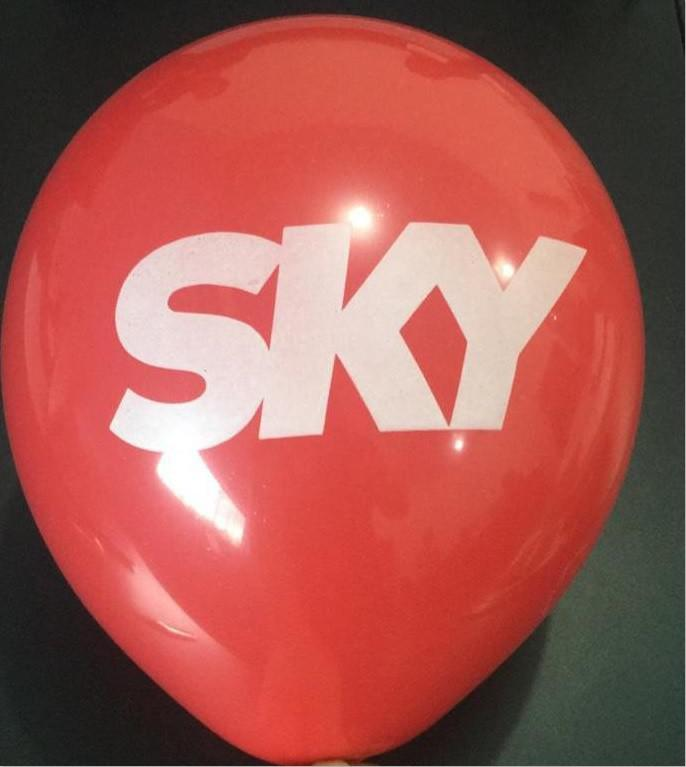 Balão de divulgação