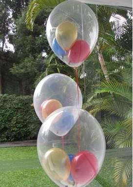 Balão de latex transparente