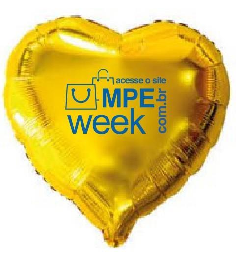 Balão metalizado coração