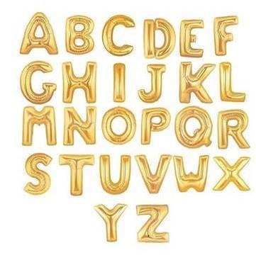 Balão metalizado letras
