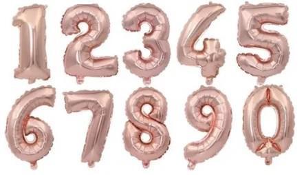 Balão metalizado numero preço