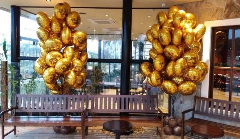 Valor de balões metalizados