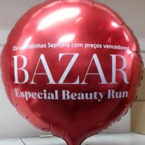 Balão metalizado vermelho