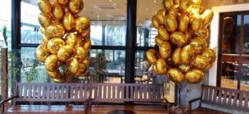 Balão metalizado dourado